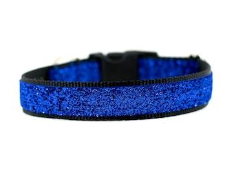 Blue Sparkle Dog Collar, Blue Sparkly Dog Collar, Sparkly Dog Collar, Trendy Dog Collar
