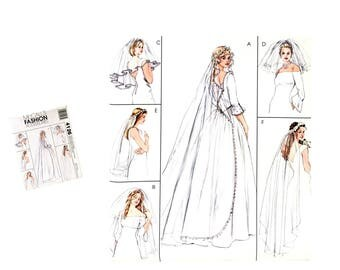 Bridal Veil Pattern, Wedding Veil Pattern, Blusher Veil Pattern, Long Veil Pattern, Short Veil Pattern, McCall's Fashion 4126 Sewing Pattern