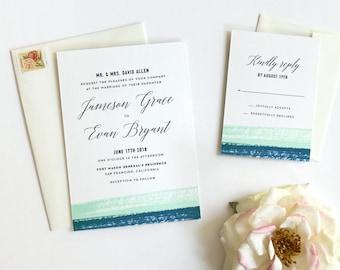 Modern Elegant Wedding Invitations - Printed Sample