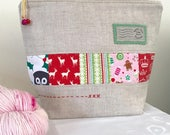 Jingle Bells ~   Small Christmas Patchwork Project Bag