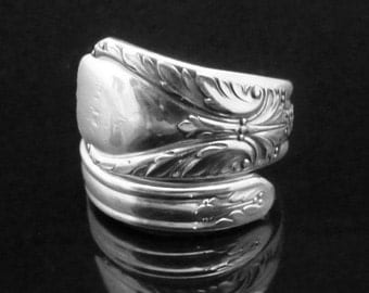 Antique Spoon Jewelry Silver Spoon Ring, Avalon aka Cabin 1940