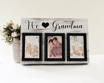 We Love Grandma Picture Frame, Grandma Photo Frame, Mother's Day Picture Frame, Gift For Mom, Grandchildren Picture Frame