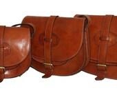 Leather bag, leather saddle bag, leather messenger bag, leather crossbody bag, leather purse, leather bag, Goldmann, brown, 11 laptop bag