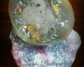Rose Quartz & Pyrite Orgone
