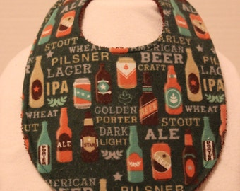 Craft Beer Flannel / Terry Cloth Bib