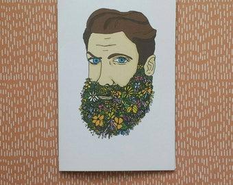 Flower Beard card