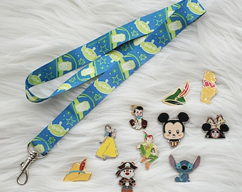 Disney Trading Pins with Toy Story Lanyard Starter Lot  5, 10, 15, 20, or 25 Random Pins  Free Shipping