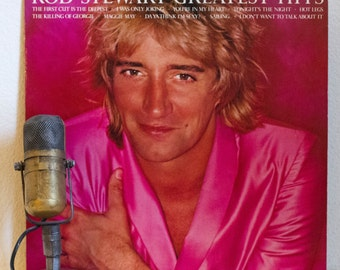"ON SALE Rod Stewart Vinyl Record Album 1970s Scottish Rock and Roll  Pop LP ""Greatest Hits""(Original 1979 Wea w/""Maggie May"", 'Tonight's The"