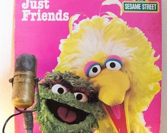 "ON SALE Sesame Street Kids Children All Ages Vinyl  2LP 1980s Children Kids Babies Learning Joy Love ""Just Friends"" (1982 Ctw w/""I Don't Wan"