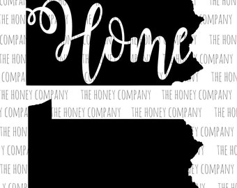 Pennsylvania SVG PNG DXF State Home Instant Download Silhouette Cricut Cut File