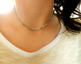 Three Arrow Choker Necklace - chokers, choker necklaces, arrow necklaces