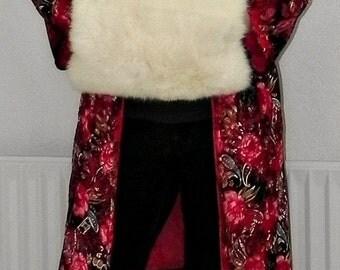 Cream Ivory real fur hand warmer muff muffler winter wedding by Barbara Wiggins vintage retro 40s 50s dress bouquet bag bride bridesmaid