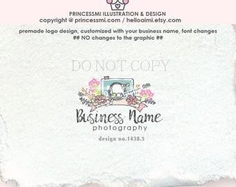 1438-5 camera logo design,  Photography logo , Camera watermark, photographer logo design, business logo, camera