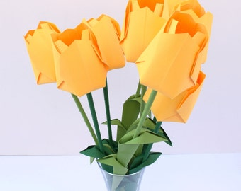 Easter Yellow Tulips, Mother's Day Tulips, Holland Tulips