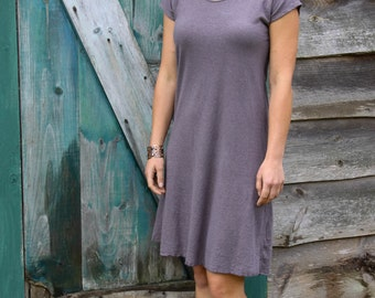 Sunday Kaftan Dress-Above Knee Length-Organic Hemp and Cotton