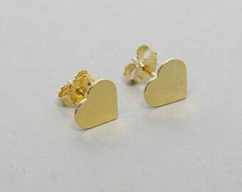 SALE, Heart Earrings, Gold Heart Stud Earrings, Heart Studs, Tiny Heart Earrings, Gold Heart Stud Earrings, Heart Jewelry, Gold Heart Post