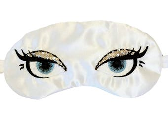 Glamour Eyes Sequins and Satin Sleep Eye Mask