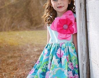 Girl's Rose Dress Easter Dress