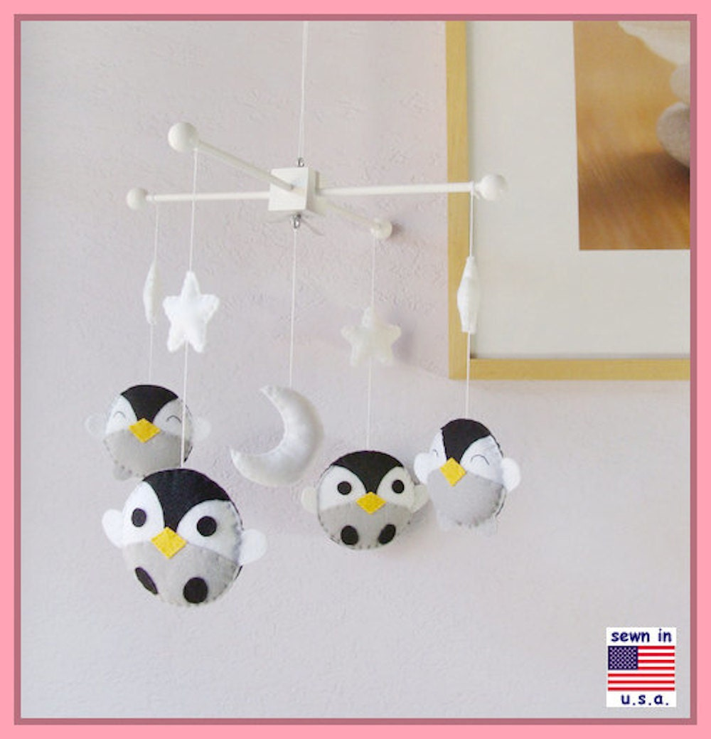 Penguin Mobile Baby Mobile Baby Crib Mobile Antarctic World