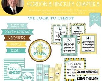 Relief Society Lesson Helps, Gordon B. Hinckley Lesson #8, RS Lesson Aides - Teachings of the Presidents of the Church, PRINTABLE Download