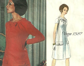 Vogue 1587 Couturier Design A Line Dress Size 14 Bust 34