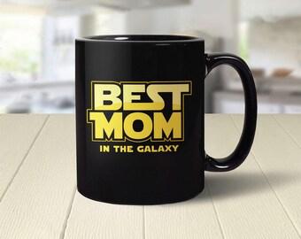 Geek Mom Gift, Mom Mug, gift for mom coffee mug, best mom in the galaxy, mothers day gift, mom present, mom coffee cup, geeky gift for her