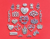 Deluxe Mother Charm Collection Antique Silver Tone 22 Charms - COL286 NEW3
