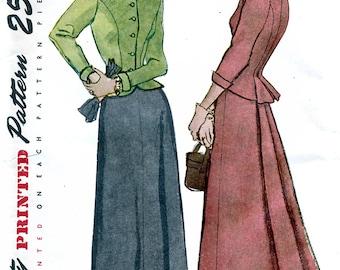 Simplicity 2605 Vintage 50s Sewing Pattern for Misses' Two-Piece Suit-Dress - Uncut - Size 14 - Bust 32