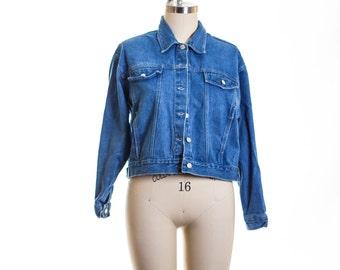 Vtg  Jean Jacket size XLarge