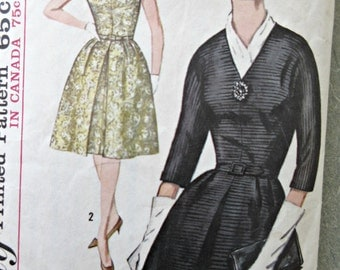 Vintage Simplicity 5238 Sewing Pattern, 1960s Dress Pattern, Kimono Sleeves, Bust 38, Plus Size Pattern, A Line Dress, 1960s Sewing Pattern