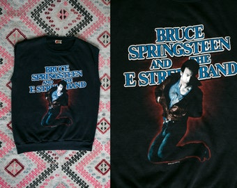 Vintage 1984 Bruce Springsteen and the E Street Band Tee Shirt/ Muscle Tee/Vest/ Tank Unisex Size Medium