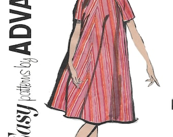 Advance 2738 Misses' 60s Camise or Tent Dress Sewing Pattern Size 14 Bust 34