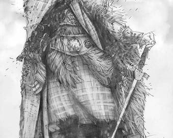 There can be only one Giclee print of pencil drawing