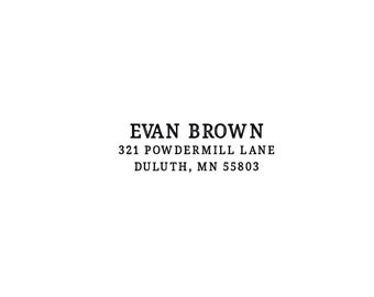 Self Inking or Wood Personalized Stationery Custom Return Address Custom Rubber Stamp Sans ...