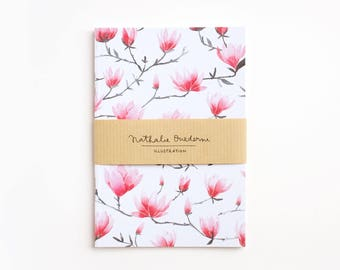 floral notebook, pink floral notebook, Pink notebook, floral stationery, pink journal, floral journal, floral diary, notebook, gift for her