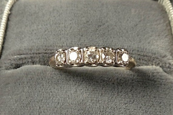 Estate Diamond Wedding Engagement Ring 14k .5 TCW Diamonds (No. 1390)