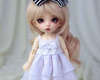 Snow white ruffle dress for PukiFee, Lati Yellow
