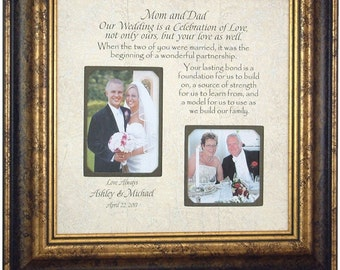 Parents Thank You Gift Wedding, Wedding Gifts To Parents, Parents of the Bride Gift, Parents of the Groom Gift, CELEBRATION OF LOVE 16 X 16