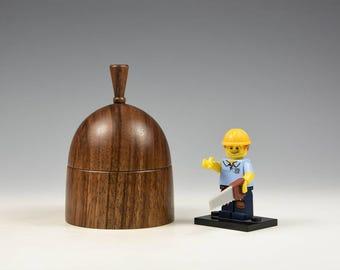 English walnut wooden box, woodturning, gift, wood