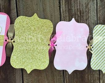 Twinkle Twinkle Little Star Photo Banner- 1st Birthday -Personalized -Monthly Photo Banner -Photo Prop -Party Banner, little star, gold pink