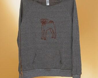 SALE Puggle Sweatshirt, Size M