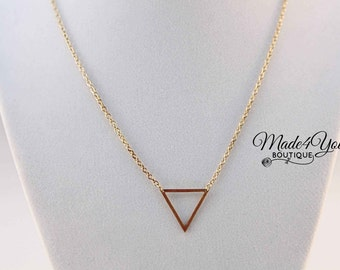 Triangle Dainty Necklace - Gold Minimalist Necklace