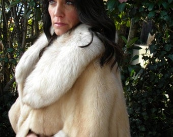 Stunning fox and mink fur cape / stole / wedding