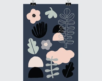 IN THE GARDEN print - A5 Size (Art. Print. Nature. Garden. Botanical. Scandinavian. Illustration)