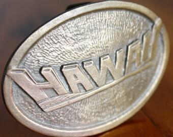 brass Hawaii! belt buckle