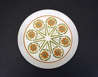 Vintage Ben Seibel for Mikasa Duplex 'Segments' Floral Platter (E5238)