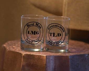 Wedding party rocks glasses, Personalized Groom, Groomsmen glasses, Groomsmen. Best man gift. Bachelor cocktail glasses, Best Man favors