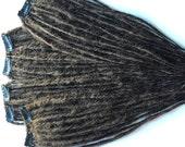 20 Clip in Dreadlocks SE Single Ended Synthetic Dreads Medium Dark Chestnut Brown Dreadlocs Fall Hair Extension Custom