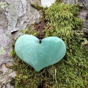 heart necklace etsy sale aventurine