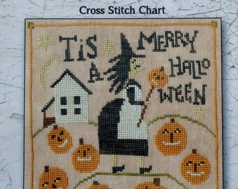 Counted Cross Stitch Pattern | MERRY HALLOWEEN | Teresa Kogut | Creative Whims